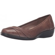 LifeStride Women's I-Loyal Flat, Dark Tan 2, 11 W US