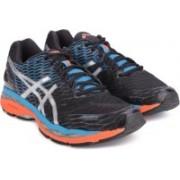 Asics GEL-NIMBUS 18 Running Shoes For Men(Black, Blue, Silver)