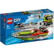 LEGO City Transportor de barca de curse No. 60254