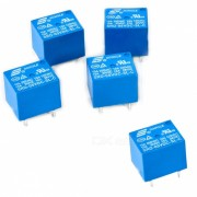 Songle SRD-05VDC-SL-C 5 VDC electrodomestico 5 pines PCB rele (5PCS)