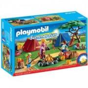 Комплект Плеймобил 6888 - Къмпинг с LED огън, Playmobil, 2900153
