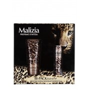 Malizia Caseta femei:Gel de dus+Spray deodorant 250+100 ml Animalier