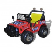vidaXL Dětské elektrické vozítko pro dvě děti, červená barva