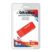 USB Flash Drive 8Gb - OltraMax 240 OM-8GB-240-Red