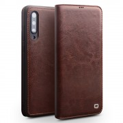 QIALINO Classic Genuine Leather Shell Case with Card Slot for Xiaomi Mi 9 - Brown