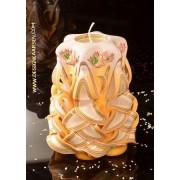 Designkaarsen com Kaars, handgesneden, 16 cm 50230(zeer exclusief) - kaarsen