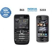 Nokia E63 Mobile Phone Nokia 5233 Mobile Phone Refurbished (1 Year Warranty Bazaar Warranty)