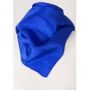 Kobalt satijn zijden sjaal