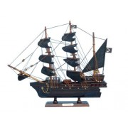 """Thomas Tews Amity 14"""" Wooden Pirate Ship Toy Famous Pirate Ships Nautical Decor Sold Fully Assembled Not A Model Ship Kit"""