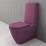 Toiletpot Set Staand Carino 68x36x92cm Keramiek Diepspoel Nano Coating EasyClean Rimfree Glans Violet met Toiletbril