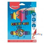 """Színes ceruza készlet 18db-os MAPED """"Color Peps"""" háromszögletű"""