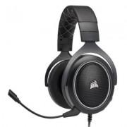 Геймърски слушалки corsair hs60 surround gaming headset 50mm неодимови говорители, usb адаптер за 7.1 съраунд, микрофон, carbon, ca-9011173-eu