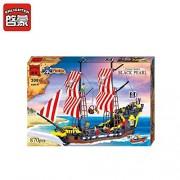 ENLIGHTEN 870Pcs Pirate Series Pirates Black Pearl Warship Building Blocks Set DIY Assembling Bricks Educational Kids Toys (308)
