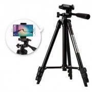SUREELEE Adjustable 3120 Mobile and Camera Stand Holder Tripod (Black Supports Up to 2500 g)