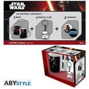 Set STAR WARS Pack Mug Trooper-Vador Keychain Trooper Badges
