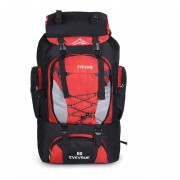80L Camping Senderismo Mochila Bolsa Bolsas De Deporte Al Aire Libre-Rojo