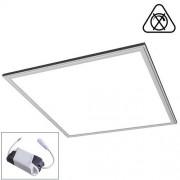 LED Paneel 60x60 cm LED Verlichting Systeemplafond Set Vierkant 45W 6400K Helder Wit 60x60cm Zilver Armatuur