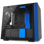 Carcasa NZXT H200, Mini-ITX (Negru/Albastru)
