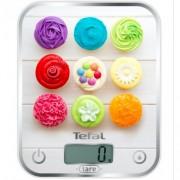 """Кухненска везна Tefal BC5122V1 Optiss Delicious Cupcakes, Ултра тънка, Капацитет 5 kg, Функция """"Тара"""", Включени 2 батерии LR03 AAA"""