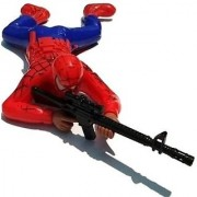 Spiderman crawling toy with gun shoot and light