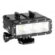 Filtre à lumière imperméable à l eau avec prise de base et vis et batterie double pour GoPro HERO4 Session / 4/3 + / 3/2/1, Dazzne, caméra XiaoYi