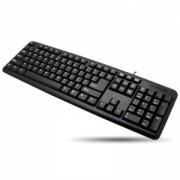 Tastatura Cu Fir Techly Tastatură USB 104 taste, tip US, Neagra