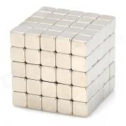 NH-125A DIY imanes cuadrados de neodimio de 5 mm-plata (125 piezas)