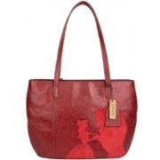 Hidesign ROSE 02-ROSE EMBOSS MEL RANCH SPLIT-RED RED DARK RED Red Shoulder Bag