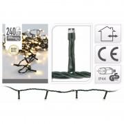 Merkloos 3x LED kerstverlichting warm wit 240 lampjes