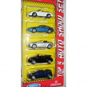 Welly Die Cast Toy Deluxe Cars, Multi Color (Pack of 5)