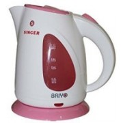 Singer riyo 1.1L Kettle 1200 watts Electric Kettle(1.1 L, White, Pink)