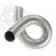Alumínium gégecső / kályhacső állófűtéshez 85mm 2m