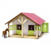 Kids Globe Farm Stables with 2 Boxes and 1 Workshop 1:24 610168