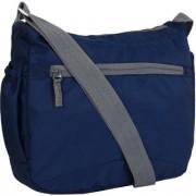 Favria Men Women Polyester Sling Bag- Navy Blue