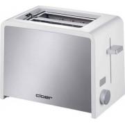 Cloer 3211 - Grille-pain -électrique - 2 tranche - Blanc/inox