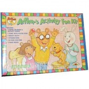 PBS Kids Arthur - Arthurs Activity Fun Kit Including 2 Coloring Books 1 Paint with Water Book 1 Crazy Slate 1 Sticker