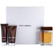 Dolce & Gabbana The One for Men подаръчен комплект VI. тоалетна вода 100 ml + душ гел 50 ml + балсам след бръснене 75 ml