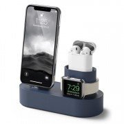 3 in 1 Charging Dock Station Phone Stand Holder for iPhone Airpods Apple Watch - Blue