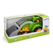 Tractor Excavator Culori Vesele Cu 1 Figurina - Jumbo