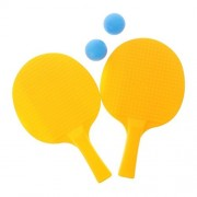 Tradico® 3X Kids Table Tennis Ping Pong Ball Toy Set 2 Ping Pong Balls & 2 Paddles Yellow