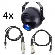 EuroLite LED PST-9W TCL DMX 4pcs Bundle