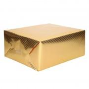 Merkloos Rol cadeaupapier/inpakpapier goud met motief 76 x 500 cm