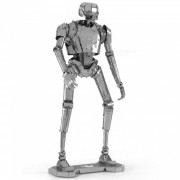 DIY Stereo Puzzle? 3D Stainless Steel Metal Star Wars K-2SO Robot Assembly Model Educational Toy - Silver
