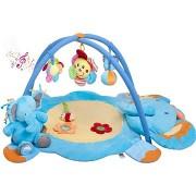 PlayTo zenélő játszószőnyeg - elefántos, függő játékokkal