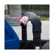 Addbaby Protector Barra de Seguridad Carro Bebé Negro/Rosa