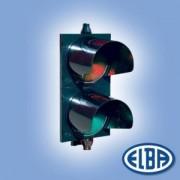 Közlekedési jelzőlámpa 2S2TL LED piros/zöld, polikarbonát test, ellenző nélkül d=200mm IP56 Elba