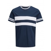 JACK & JONES Striped T-shirt Man Blå