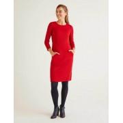 Boden Rot Jacquard-Kleid mit Wabenmuster Damen Boden, 42 R, Red
