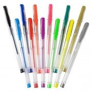 12 Pack Gel Pen Set In 12 Unique Colors Non-toxic And Acid Free Ultra Vibrant Pens - Great For Scrap-booking, Coloring, Doodling, Sketching Crafts, School Supplies And Much More By Kidsco