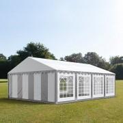 taltpartner.se Partytält 6x8m PVC 500 g/m² grå-vit vattentät